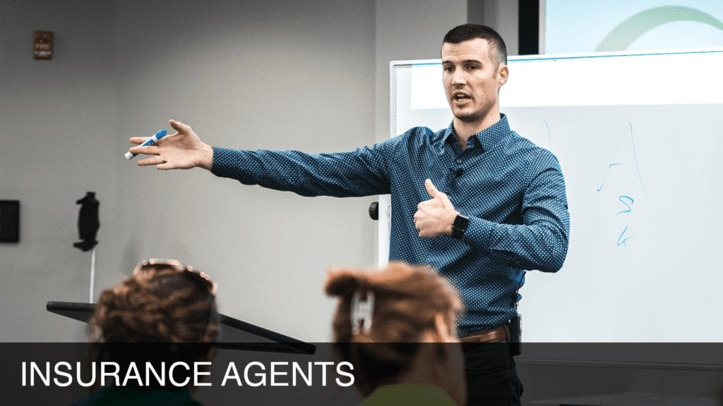 Cody Askins trains Insurance Agents