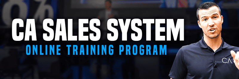 a banner that says CA Sales System Online Training Program with an image of Cody Askins
