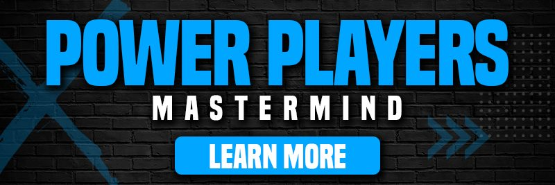 """an image link containing text that says """"Power Players mastermind. Learn More."""""""
